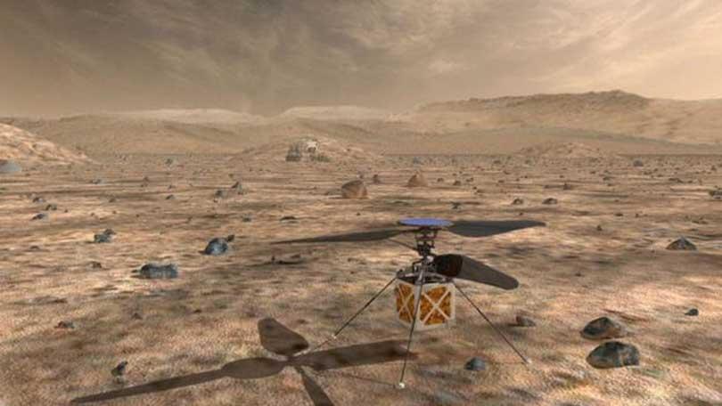 मंगल ग्रहमा हेलिकप्टर पठाउने नासाको योजना
