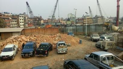 काठमाडौँ भ्यु  टावरको निर्माण गति