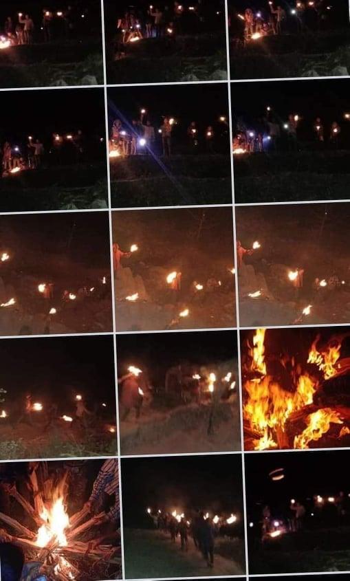 युवा संगठन भेरी कर्णालीले जलायाे माेदी र वलीकाे पुत्ला