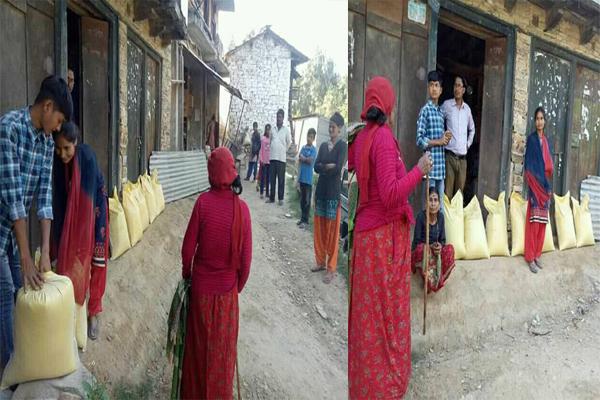 अछाममा विप्लव नेकपाकाे राहत वितरण तिब्र गतिमा