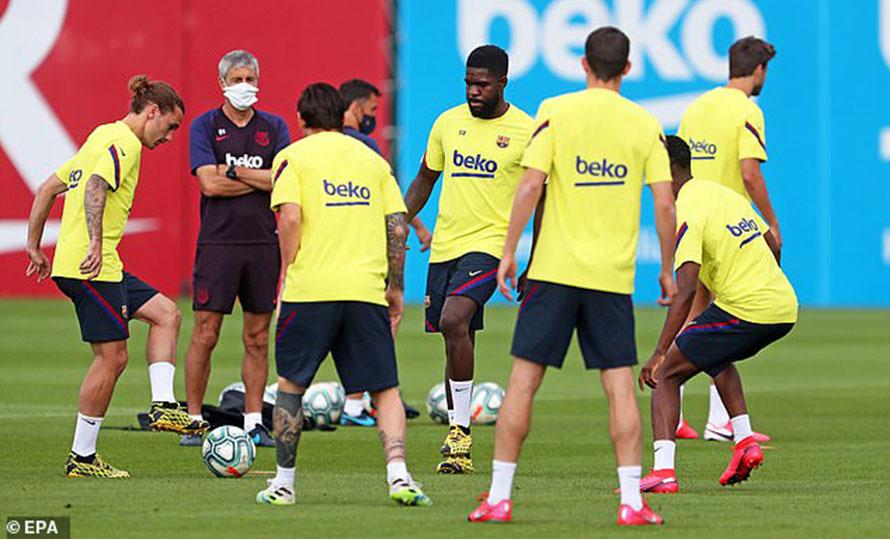 'बार्सिलोनाका पाँच खेलाडीमा देखिएको थियो कोरोना संक्रमण'