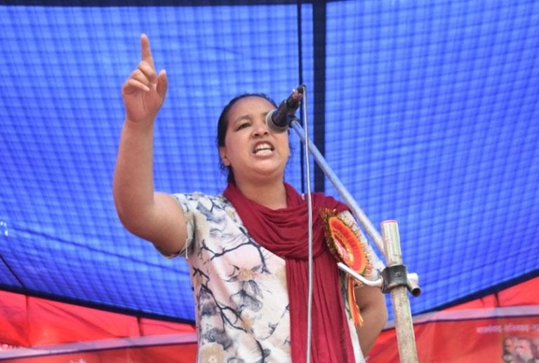 नेकपा नेत्री उमा भुजेल रिहा भएलगत्तै दसौँपटक गिरफ्तार