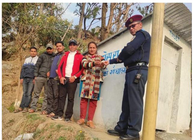 नेपाली कांग्रेस द्वारा रामारोशनमा शौचालय निर्माण