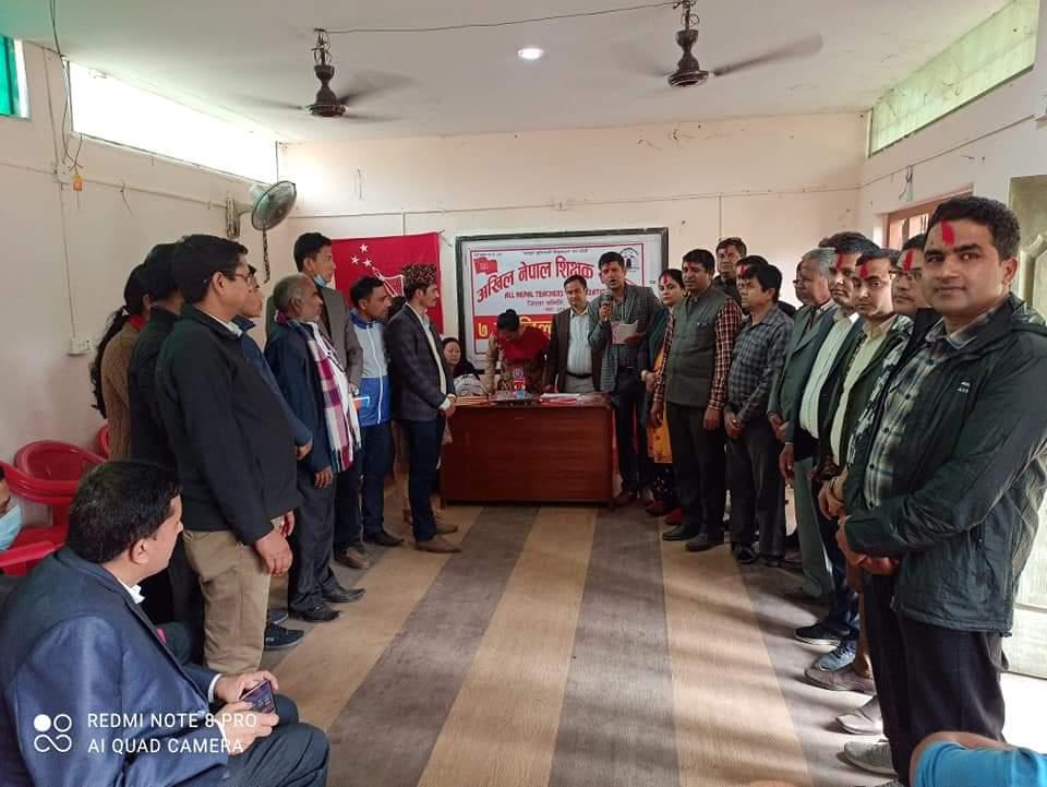अखिल नेपाल शिक्षक संगठन रुपन्देहीको अध्यक्षमा चालिसे