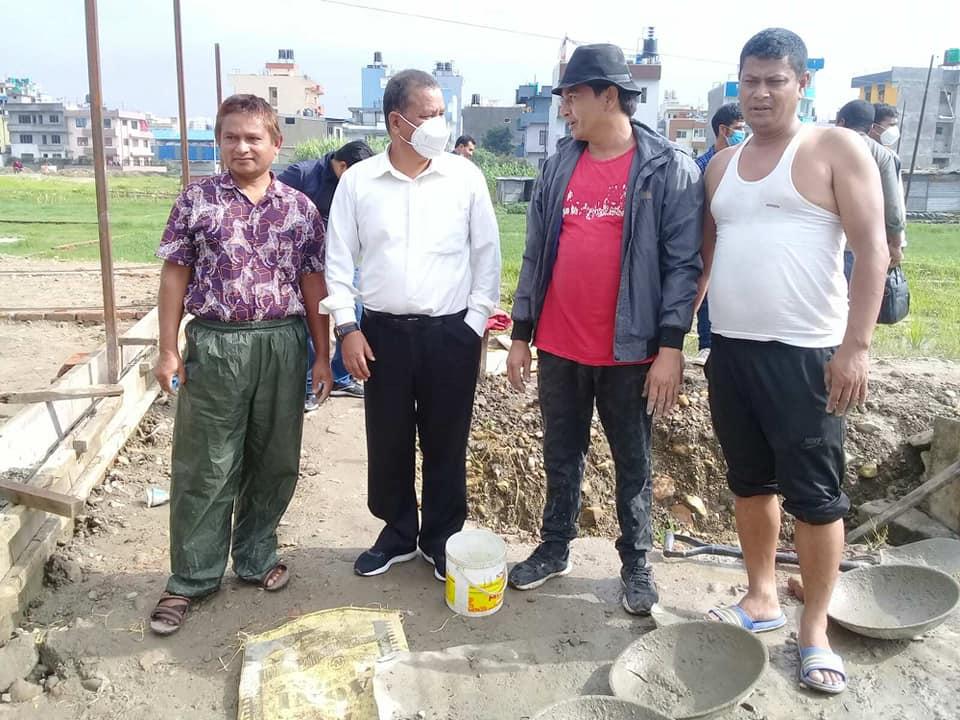 पार्टी कार्यालय निर्माणमा नागार्जुन नगर समितिकाे सक्रिय श्रमसहभागीता